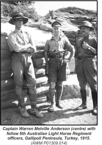 Warren Anderson at Gallipoli