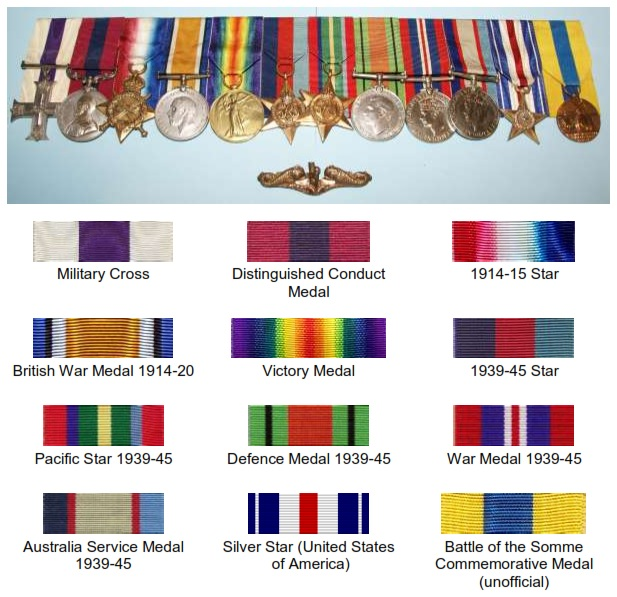 Harry Murrays Medals