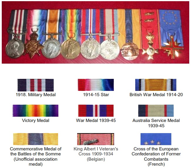Sydney Smiths Medals
